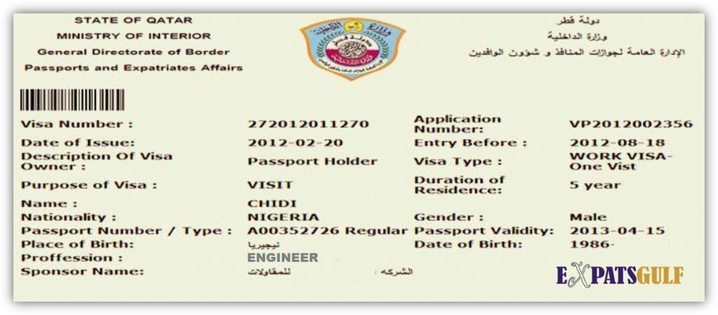 A Tourist Visa for Qatar