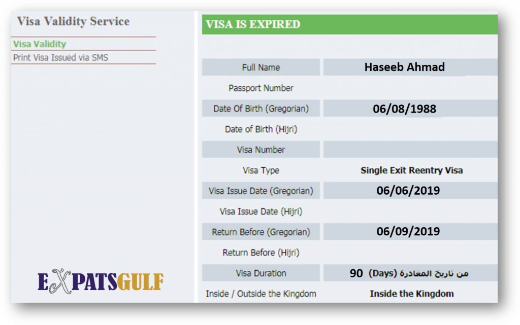 Enter the required details like Iqama number and select any of below