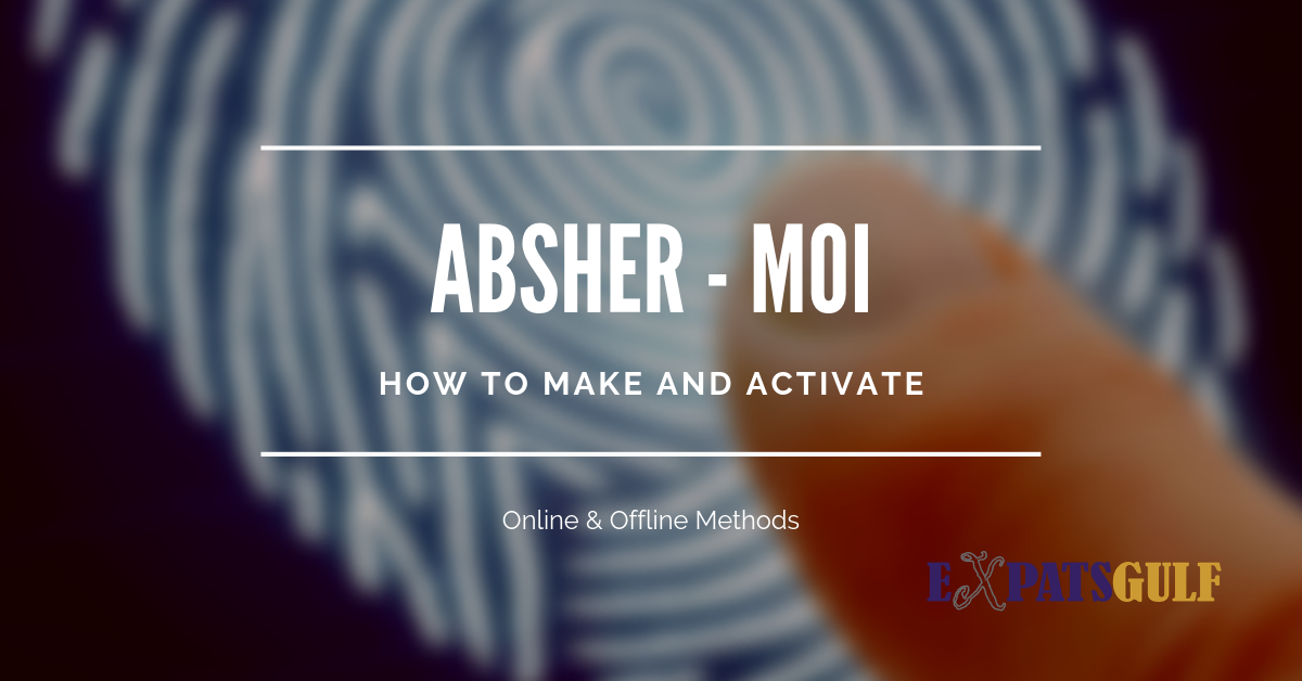 How to make and activate an absher account online