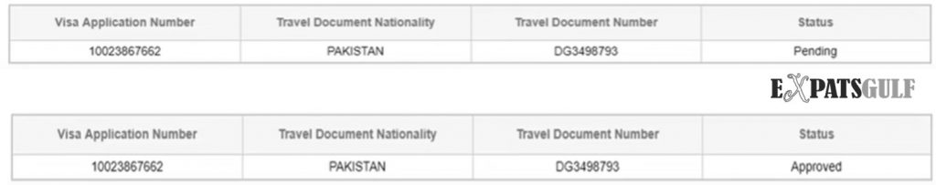 If you see below option the visa is valid or it is fake