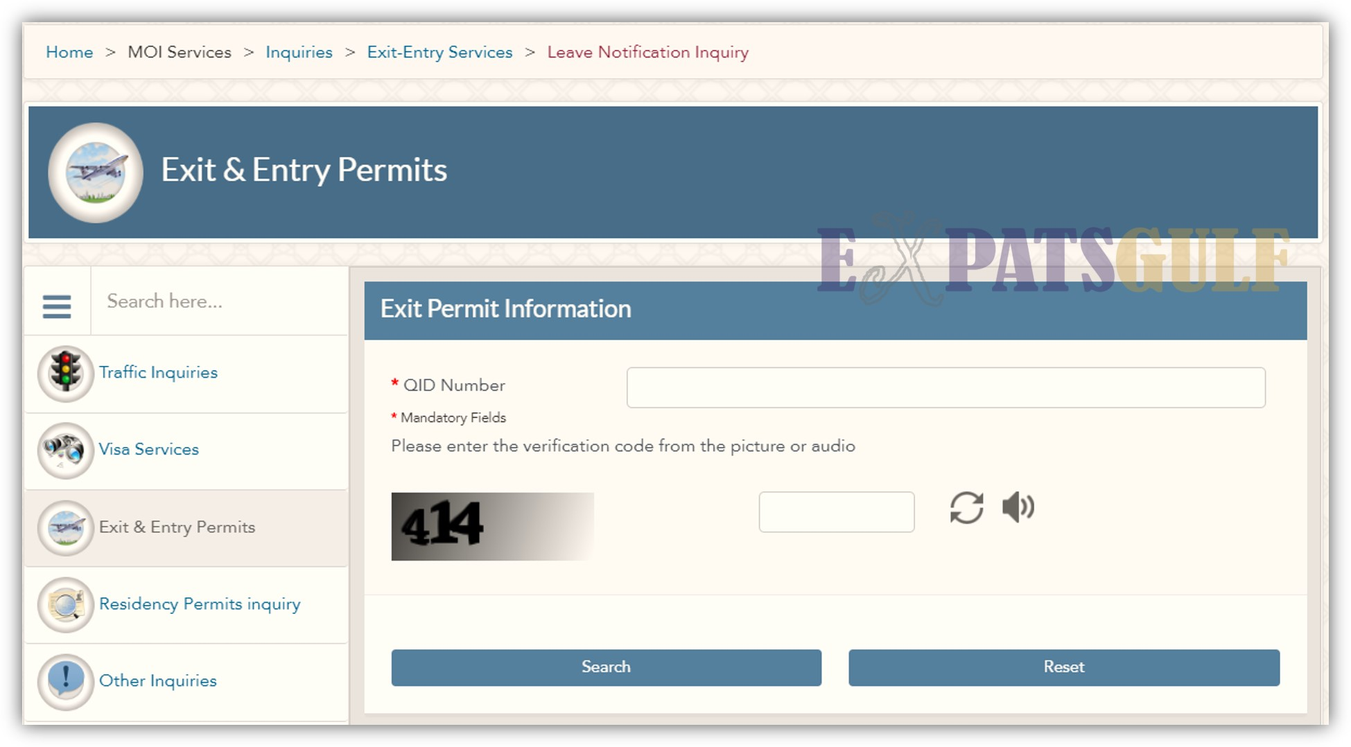 MOI Exit Permit Qatar | Online Check