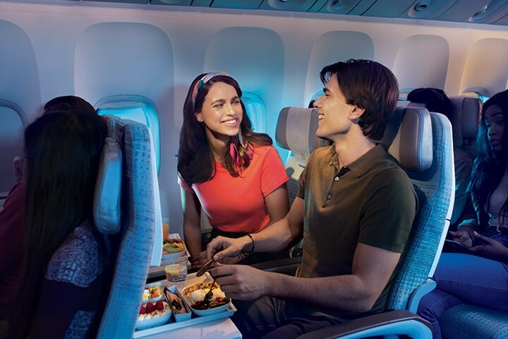 Savor the freshest ingredients in every Economy Class meal on board