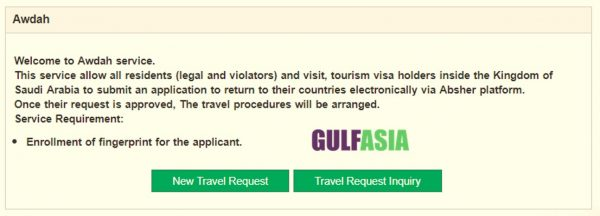 Select the New Travel Request
